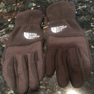Brown Northface women's gloves